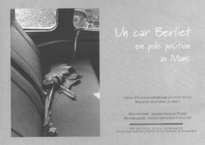 "Flyer de l'expo ""Un car Berliet en pole position au Mans"""