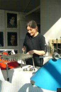 Claire Monestier aux structures Baschet (1)