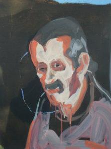 """Peinture de Dominique Masse, un des """"Portraits soignés"""""""