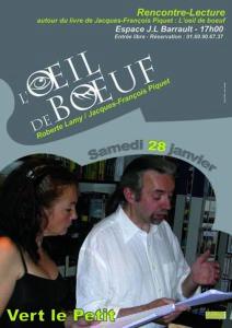 """Affiche : """"L'Oeil de bœuf"""" par Roberte Lamy et JFP"""