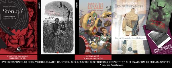 Couverture des livres de Julien Roturier et informations de commande